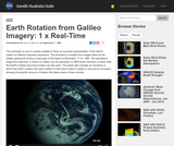 Earth Rotation from Galileo Imagery: 1 x Real-Time