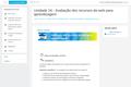 Avaliação dos recursos da web para aprendizagem