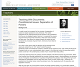 Constitutional Issues: Separation of Powers