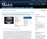 Basics of Visible and Infrared Remote Sensing