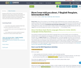 Have I ever told you about...? English Template, Intermediate Mid