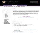 SEI: Junior E&M I Course Materials