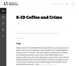 7, 8, 9: Coffee and Crime