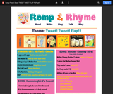 Romp & Rhyme Storytime Parent Activity Sheet: Tweet, Tweet! Flap!