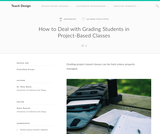 Teach Design: How to Deal with Grading Students in Project-Based Classes