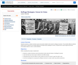 Suffrage Strategies: Voices for Votes