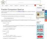 Fraction Comparison Sped up