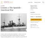 Lesson 2: The Spanish-American War