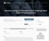 Resources: Nanotechnology and the NAE Grand Challenge Make Solar Energy Economical