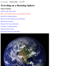 Traveling on a Rotating Sphere