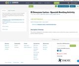 El Desayuno Latino - Spanish Reading Activity
