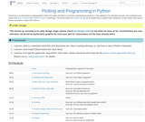 Plotting and Programming in Python