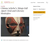 Chinua Achebe's Things Fall Apart: Oral and Literary Strategies