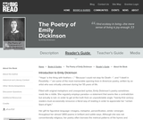 The Poetry of Emily Dickinson by Emily Dickinson - Reader's Guide
