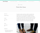 Teach Design: Think-Pair-Share