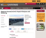 Regional Socioeconomic Impact Analyses and Modeling, Fall 2008