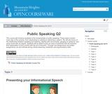 Public Speaking Q2