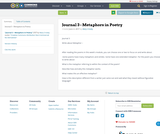 Journal 3 - Metaphors in Poetry