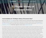 History of Economic Ideas