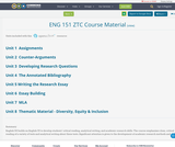 ENG 151 ZTC Course Material