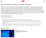 Environmental studies: Climate Change