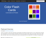 Color Flash Cards | Customizable & Printable