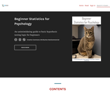 Beginner Statistics for Psychology