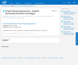 Project-Based Approaches - English (Australia) (Common Cartridge)