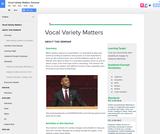 Vocal Variety Matters Seminar
