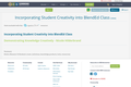 Incorporating Student Creativity into BlendEd Class