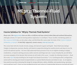 Thermal-Fluid Systems