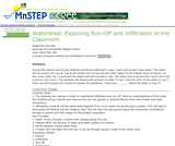 Watershed: Exploring Run-Off and Infiltration in the Classroom