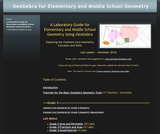 A Laboratory Guide for Elementary Geomet