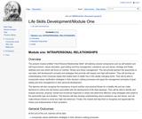 Module One: Interpersonal Relationships