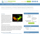 Introduction to Genetic Engineering and Its Applications