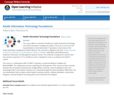 Health Information Technology Foundations