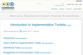Introduction to Implementation Toolkits
