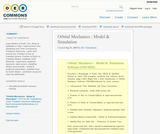 Orbital  Mechanics  :  Model   &  Simulation
