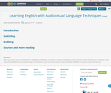 Learning English with Audiovisual Language Techniques