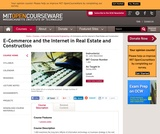 E-Commerce and the Internet in Real Estate and Construction, Spring 2004