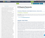 3-D Mapping | Topography