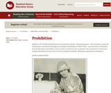 Reading Like a Historian: Prohibition