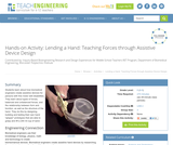 Lending a Hand: Teaching Forces through Assistive Device Design