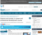 Science and Society: A Career and Professional Development Course