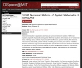 Numerical Methods of Applied Mathematics II, Spring 2005