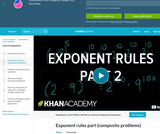 Exponent Rules Part 2