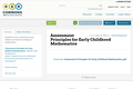 Assessment Principles for Early Childhood Mathematics