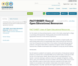 FACT SHEET: Uses of Open Educational Resources