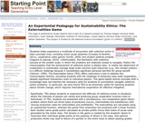 An Experiential Pedagogy for Sustainability Ethics: The Externalities Game