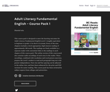 Adult Literacy Fundamental English - Course Pack 1